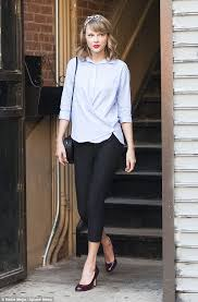 Makeup Classes In New York Taylor Swift Makes An Exit From Fitness Class In Heels And Full