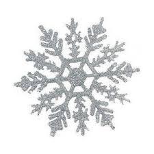 4 silver glitter snowflake ornaments 12pcs polyvore
