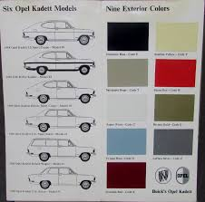 1968 opel kadett buick opel kadett color model spec data sales brochure original