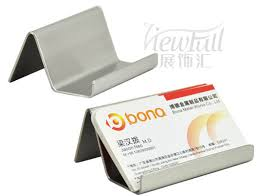 simple stainless steel business card holder stand for business