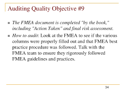 how to audit fme as using quality objectives