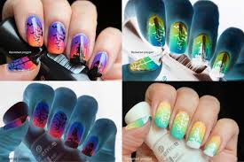 nail art halloween in inverted colours challenge polished