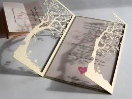wedding invitations laser cut wedding invitations laser cut tree yaseen for