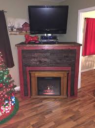 Pallet Of Laminate Flooring Entertainment Tv Stand U0026 Faux Fireplace From Recycled Pallets