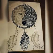 dreamcatcher with wolf mandala wolf media