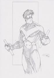 free printable nightwing coloring pages for kids