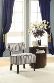 homelegance orson accent chair striped fabric 1191f1s