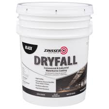 zinsser 5 gal waterbourne dryfall black coating 293233 the home