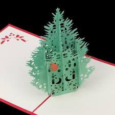 images of popup christmas tree card aliexpress com buy vintage 3d