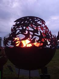 Fire Pit Globe by Fall Fires Will Burn Cool With These Decorative Fire Pits Neatorama