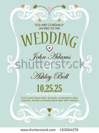 marriage invitation card wedding invitation card design vector border stock vector