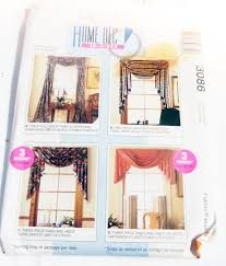 Sewing Patterns Home Decor Window Curtain Drape Swag Jabot Valance Rosettes Sewing Pattern