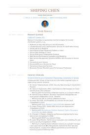 Undergraduate Student Resume Sample by Research Scientist Resume Samples Visualcv Resume Samples Database