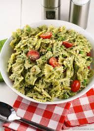 pasta salad pesto pesto pasta salad with peas http www garnishwithlemon com food