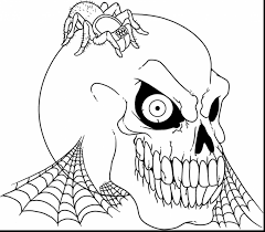 superb evil skull coloring pages scary coloring pages