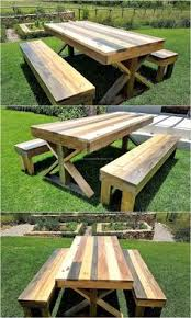 Diy Wood Picnic Table by Pallet Furniture Backyard Next Year New House Pinterest