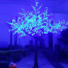 outdoor lighted cherry blossom tree 2 5meter 1728leds christmas artifical 3color changing led cherry