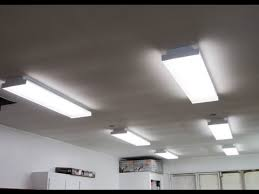 garage fluorescent light fixture new shop lights how i installed them youtube