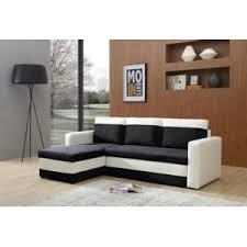 canapé d angle blanc et noir bestmobilier canapé dangle convertible réversible coffre 4