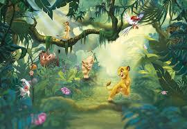 wall mural lion king jungle