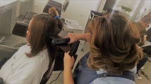 woman in digital my keratin express treatment at jing monis salon