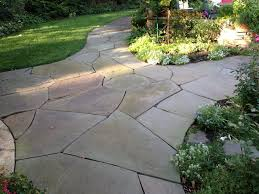 Irregular Stone Patio Irregular Bluestone Patio Patio Traditional With Bluestone