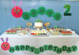 a very hungry caterpillar birthday party made with pink