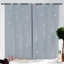 rideaux chambre bebe fille rideau bâchette étoiles imprimées chambre et linge de lit chambre