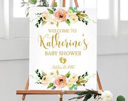 baby shower welcome sign baby shower sign etsy