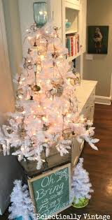 decorating with a white tree eclectically vintage