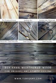weathered wood a diy faux weathered wood ceiling tinygami