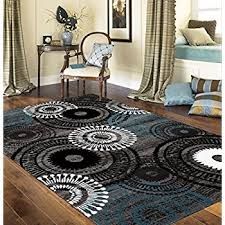 Area Rugs With Circles Amazon Com Rugshop Contemporary Circles Area Rug 2 U0027 X 3 U0027 Blue