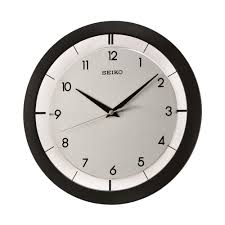 black wall clock qxa520klh