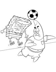 spongebob squarepants playing skateboard coloring page boys