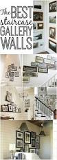 Up The Stairs Wall Decor Excellent Use Of Stairway Space Decorating Use Chair Rail To