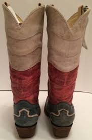 vintage womens boots size 11 corral boots vintage s flag genuine leather cowboy