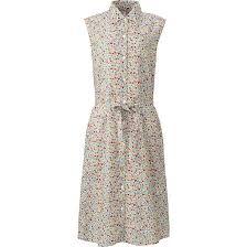 women linen cotton printed sleeveless dress uniqlo fashion
