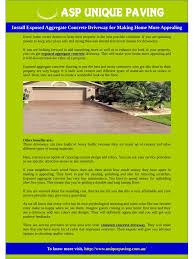 exposed aggregate concrete driveway for home appealing pdf pdf