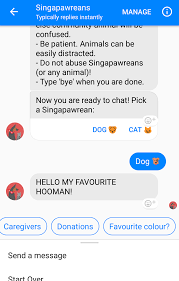 spca facebook chat bot called singapawreans fulfils your dreams of