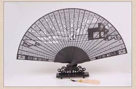 cheap wedding fans high quality style handmade black folding fan hollow