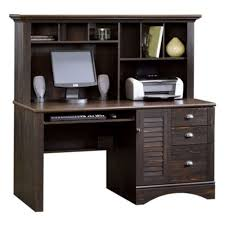 Walmart Computer Desk With Hutch by Amazon Com Harbor View Computer Desk With Hutch Antiqued Paint