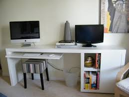Rubbermaid Computer Desk Slim Desk Out Of Ikea Materials Malm Occasional Table In White