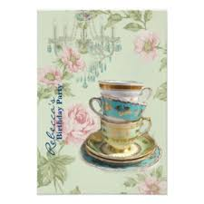 Tea Cup Chandelier Chandelier Birthday Party Invitations U0026 Announcements Zazzle