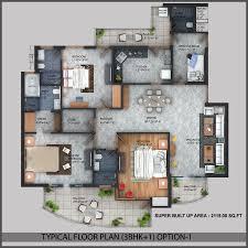 Arena Floor Plan Flats In Escon Arena Zirakpur Propertyatdoorstep