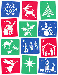 nativity themed 12 washable stencils designs for