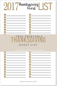 thanksgiving planning guest list sweet events