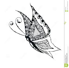 simple flying butterfly drawing