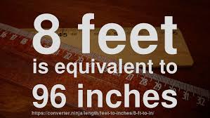8 feet in inches 8 ft to in how long is 8 feet in inches convert