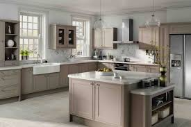 taupe kitchen cabinets and white countertops kitchendesign