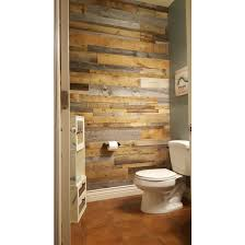 Reclaimed Wood Bathroom Diy Reclaimed Wood Accent Wall Grey And Natural Brown Shades Mixed